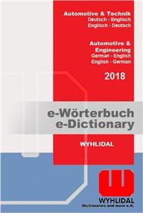 Wyhlidal 2018 Automotive & Engineering:   667,000 entries; German-English/English-German   Multi-user licenses, inst